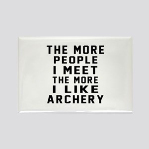 I Like More Archery Rectangle Magnet