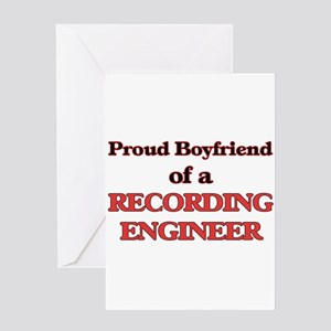Proud Boyfriend of a Recording Engi Greeting Cards