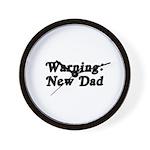 Warning: New Dad Wall Clock