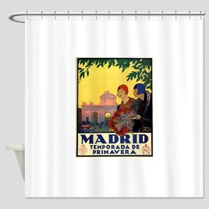 Madrid Temporada de Primavera - Vin Shower Curtain