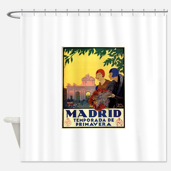 Madrid Temporada de Primavera - Vin Shower Curtain
