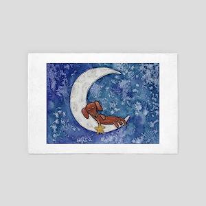 Dachshund on the Moon 4' x 6' Rug