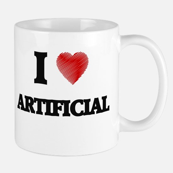 I Love ARTIFICIAL Mugs