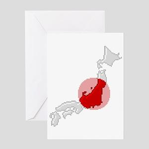 """""""Pixel Japan"""" Greeting Card"""