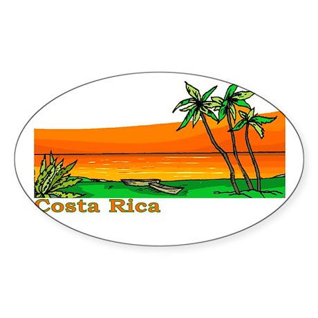 Costa Rica Oval Sticker
