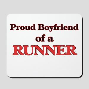 Proud Boyfriend of a Runner Mousepad