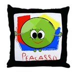 Peacasso Throw Pillow