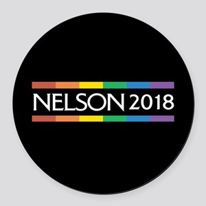 Bill Nelson 2018 Round Car Magnet