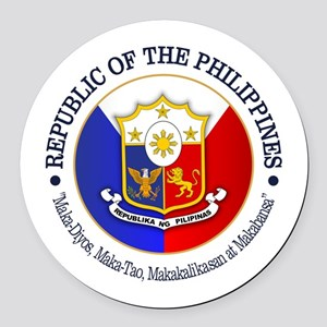 The Philippines (rd) Round Car Magnet