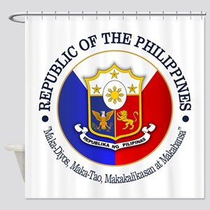 The Philippines (rd) Shower Curtain