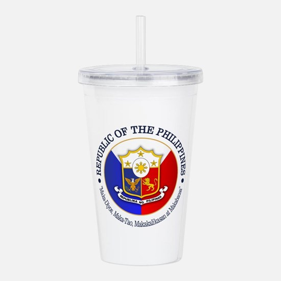 The Philippines (rd) Acrylic Double-wall Tumbler