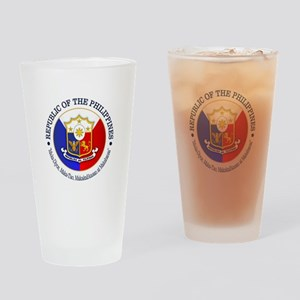 The Philippines (rd) Drinking Glass