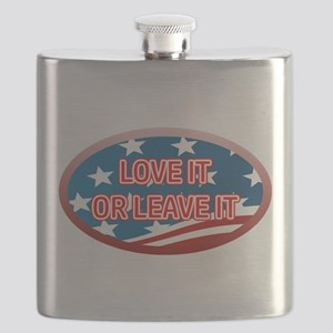 LOVE IT OR LEAVE IT! AMERICAN FLAG Flask