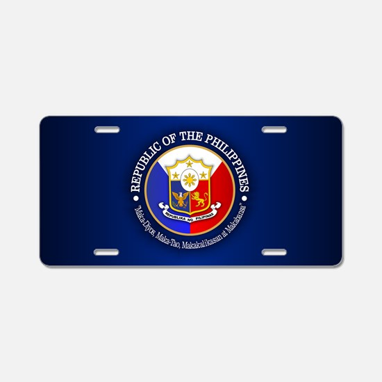 The Philippines (rd) Aluminum License Plate