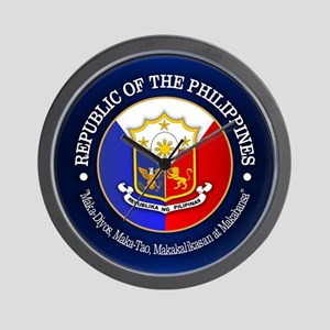 The Philippines (rd) Wall Clock