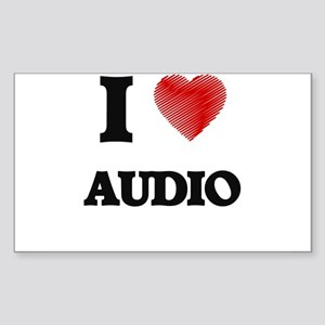 I Love AUDIO Sticker