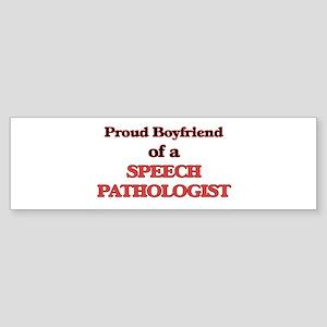 Proud Boyfriend of a Speech Patholo Bumper Sticker
