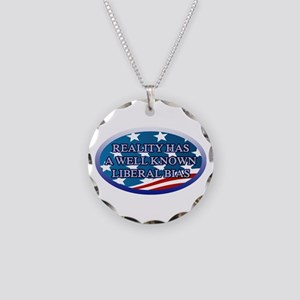 REALITY HAS A WELL KNOWN LIB Necklace Circle Charm