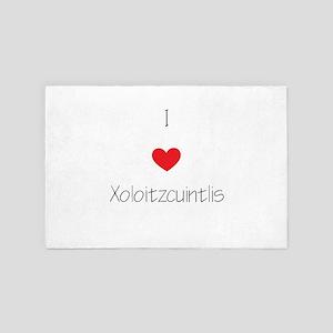 I Love Xoloizcuintlis 4' X 6' Rug