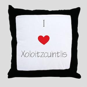 I love Xoloizcuintlis Throw Pillow