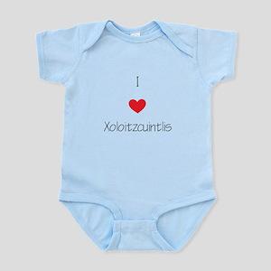 I love Xoloizcuintlis Infant Bodysuit