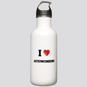 I Love AUTOWORKERS Stainless Water Bottle 1.0L