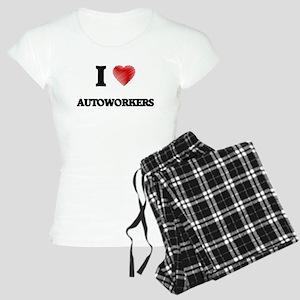 I Love AUTOWORKERS Women's Light Pajamas