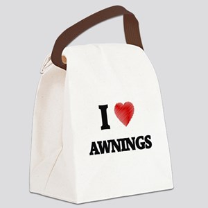I Love AWNINGS Canvas Lunch Bag
