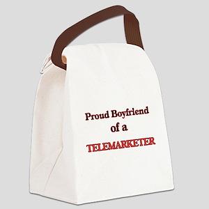 Proud Boyfriend of a Telemarketer Canvas Lunch Bag