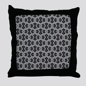 Diamond Shapes (Charcoal) Throw Pillow