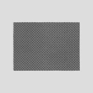 Diamond Shapes (Charcoal) 5'x7'Area Rug