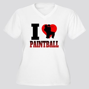 I Heart Paintball Plus Size T-Shirt