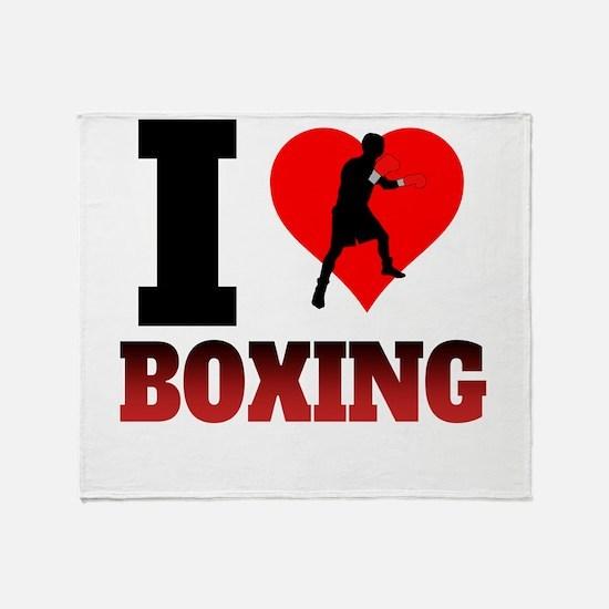 I Heart Boxing Throw Blanket