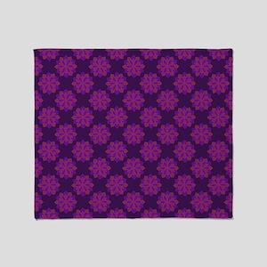 Petals (Purple and Pink) Throw Blanket