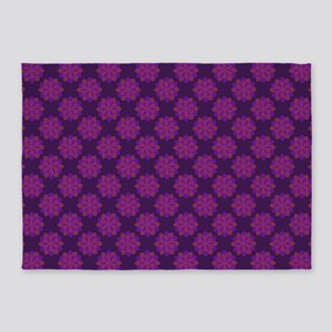 Petals (Purple and Pink) 5'x7'Area Rug