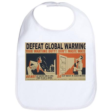 Defeat Global Warming (1) Bib