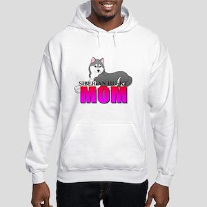 Gray Siberian Husky Mom Sweatshirt