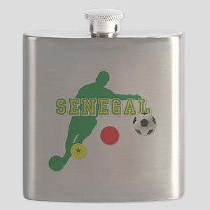Senegal Soccer Flask