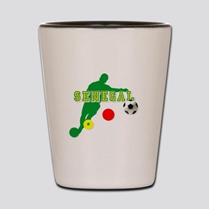 Senegal Soccer Shot Glass