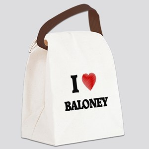 I Love BALONEY Canvas Lunch Bag