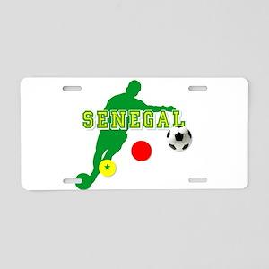 Senegal Soccer Aluminum License Plate