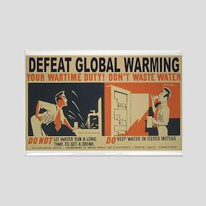 Defeat Global Warming (1) Rectangle Magnet