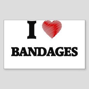 I Love BANDAGES Sticker