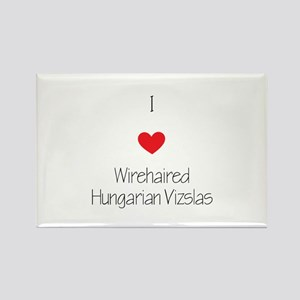 I love Wirehaired Hungarian Vizsl Rectangle Magnet