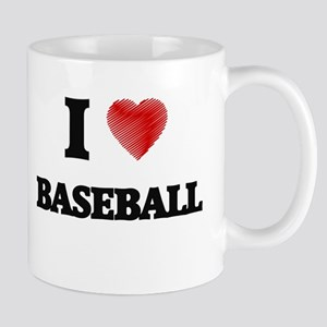 I Love BASEBALL Mugs