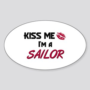 Kiss Me I'm a SAILOR Oval Sticker