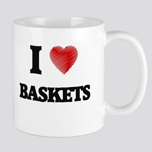 I Love BASKETS Mugs