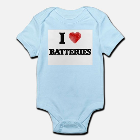 I Love BATTERIES Body Suit