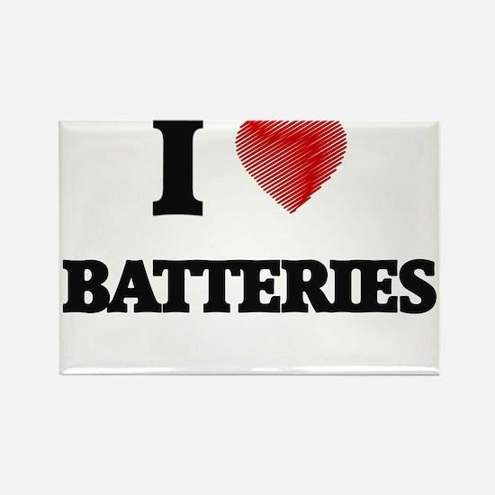 I Love BATTERIES Magnets