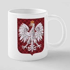 Polish Eagle Plaid Crest Mugs